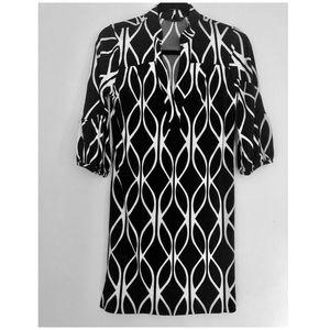 Black and white banana republic dress